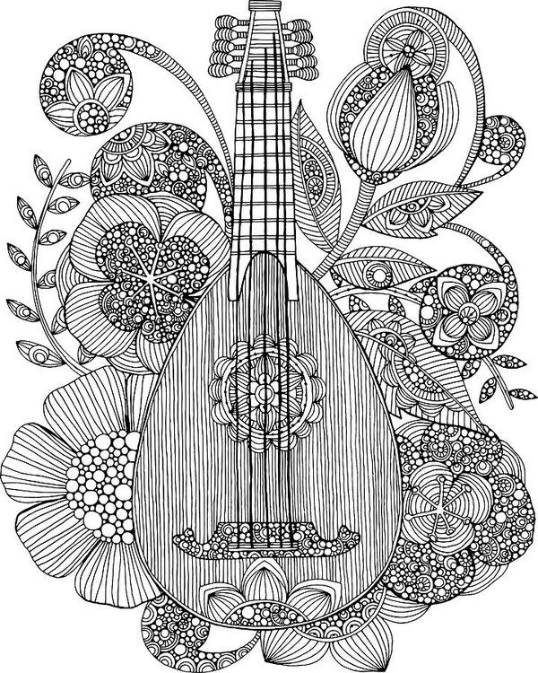 318 best Music Coloring Pages for Adults images on Pinterest ...