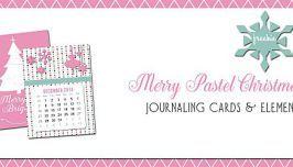 Pastel Christmas Journaling Cards - Free Printable Download