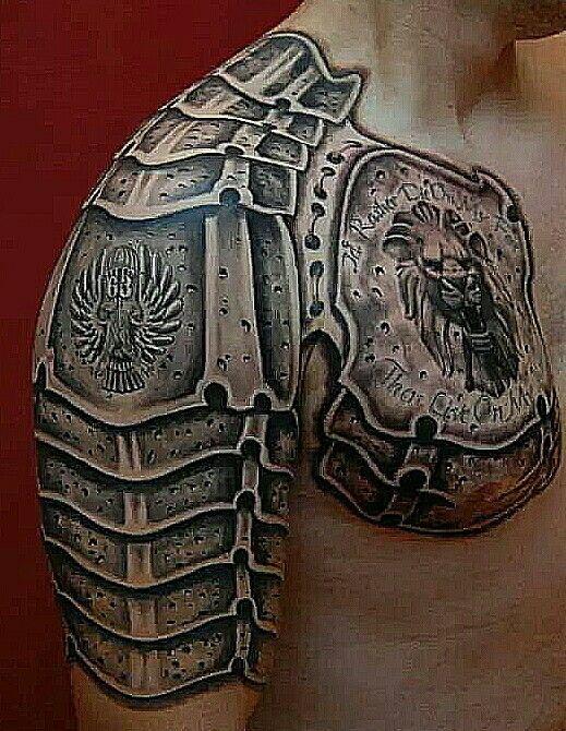 Gladiator Armor Tattoo - http://giantfreakintattoo.com/gladiator-armor-tattoo/