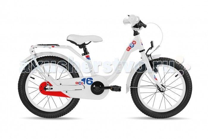 Велосипед двухколесный Scool niXe 16 steel  Детский велосипед Scool niXe 16 steel для детей с ростом от 100 см от 3-х лет. Специально заниженная стальная рама для удобства в посадке и безопасность при соскоке на раму. Регулировка подъёма руля по высоте для выбора оптимальной посадки.   Полноразмерные металлические крылья для лучшей защиты от грязи. Защитный кожух на цепь предотвращает попадания штанов в систему. Классический педальный тормоз, плюс ручной тормоз переднего колеса.   Вес - 10.3…