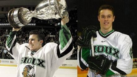 Zach and Jonathan back in their Sioux days!