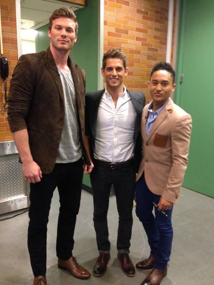 Derek Theler, Jean-Luc Bilodeau & Tahj Mowry at Good Morning America