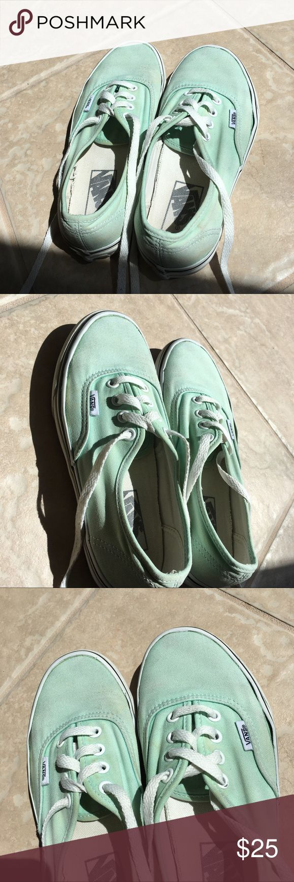 Mint Green Vans The price reflects the flaws on the shoes Vans Shoes Sneakers