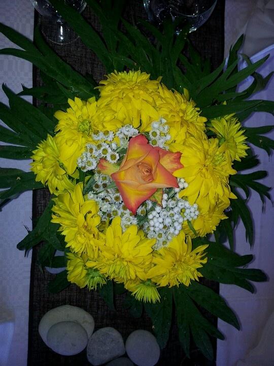 Golden flower ball