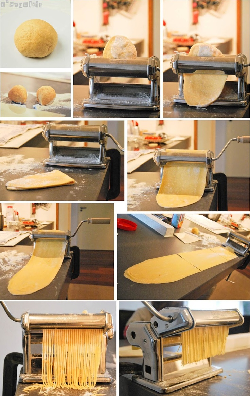 Pasta fresca - L'Exquisit. A beautiful image of pasta-making!