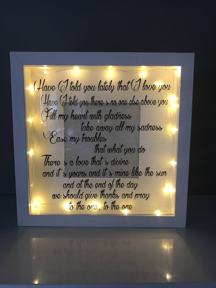 Have I Told You Lately That I Love You, First Dance Lyrics, Wedding Anniversary, First Dance Song, Wedding Gift For Couple, Unique Wedding by GemzCreativeCreation on Etsy