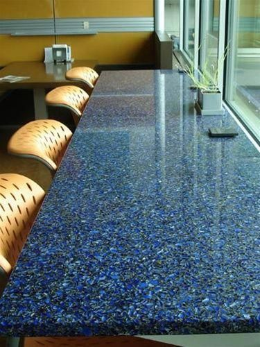 Image result for recycled glass countertops