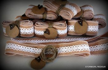 Burlap & Lace Ribbon - Rustic French Style | Trade Me