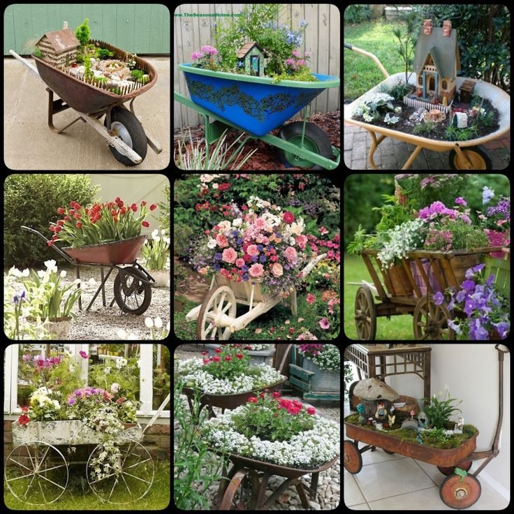 making a fairy garden in a wheelbarrow | Upcycle Wheelbarrow for Garden - Cool Creativities