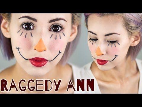 Simple Raggedy Ann Makeup Tutorial