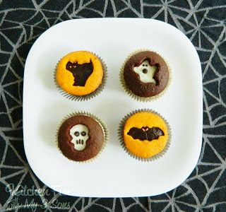 Halloween Cookie Cutter Cupcakes..so easy! - Kitchen Fun With My 3 Sons