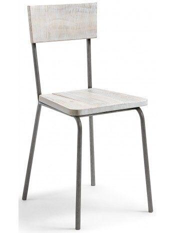 Semplice, lineare, una linea classica per questa sedia nordica. Molto comoda, con una forte e robusta struttura. Gambe in metallo e seduta e schienale in legno di pino bianco patinato. Minimal ed essenziale, ma dal colore chiaro e luminoso che rende la vostra casa calda e accogliente.