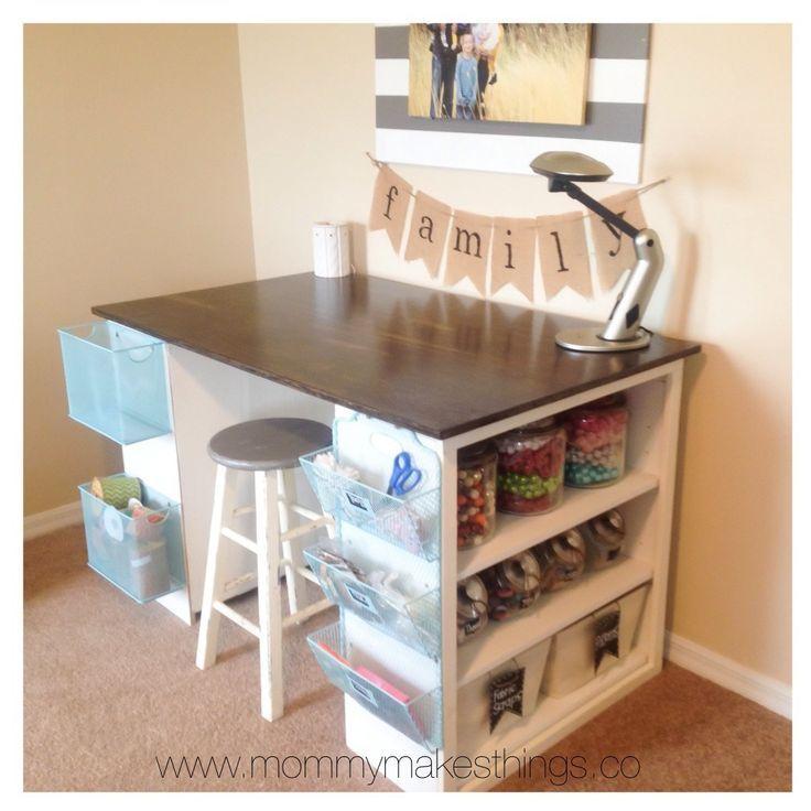 One Room Challenge Week Two Inspiration And Design Plan Craft Room Storage Craft Table Diy Craft Room Design