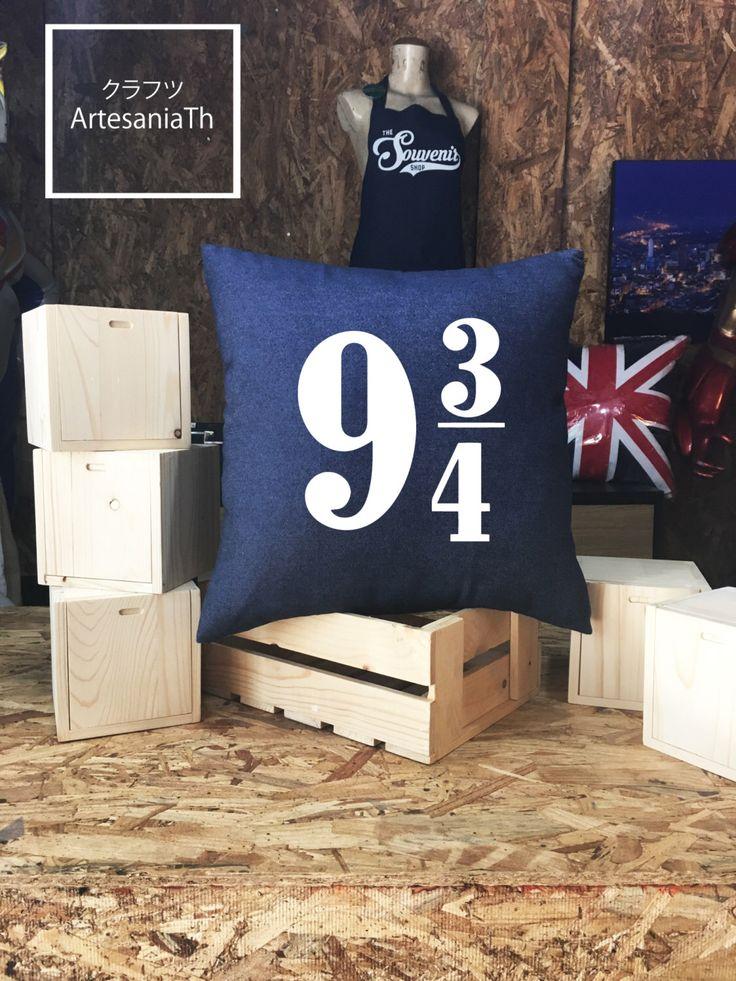 SALE !! Platform 9 3/4 Shirt Harry Potter Pillow cover Jean cotton canvas, Cushion cover, small pillow case, 16x16 , canvas pillow cover by ArtesaniaTh on Etsy https://www.etsy.com/au/listing/384735166/sale-platform-9-34-shirt-harry-potter