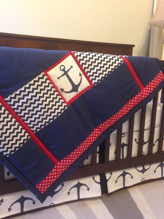 Nautical baby blanket nautical baby bedding  by BabyEtiquette, $75.00 at https://www.etsy.com/listing/199580121/nautical-baby-blanket-nautical-baby?ref=listing-5