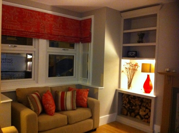 Square Bay Window Roman Blinds Living Room Pinterest