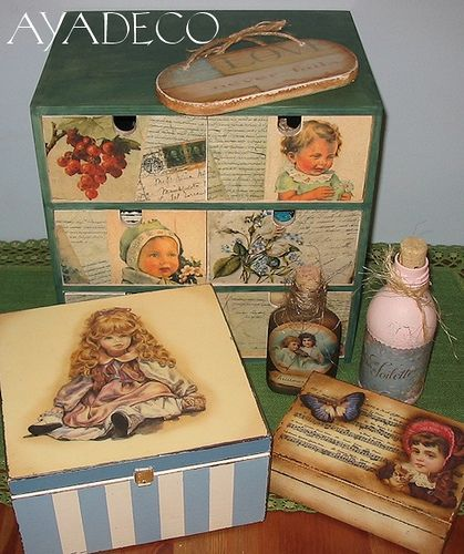 Decoupage | Flickr - Photo Sharing!          I have old Xmas cards that might work