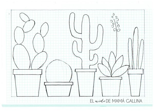 DIY: Lámina de cactus reciclando revistas, estos si que no se marchitarán | Decoración