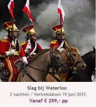 Beleef de Slag bij Waterloo. Deze reis is echt uniek. De Slag bij Waterloo zal nagespeeld gaan worden en u kunt erbij zijn. De reis wordt aangeboden i.s.m. Peter Langhout reizen.   Graag meer weten over deze reis? patricia@travelcounsellors.nl www.travelcounsellors.nl/patricia