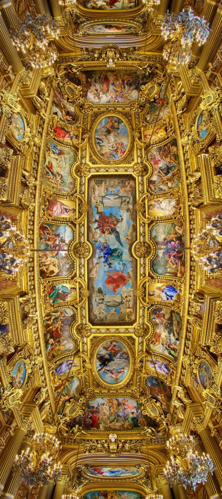 Ceiling, Opéra Garnier, Paris, France