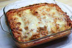 Lasagna met zalm mozzarella en creme fraiche