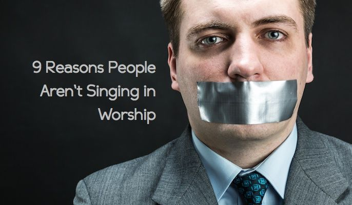 Nine Reasons People Aren't Singing in Worship This is a good article. It needs to be read by every congregational leader and its advice should be carefully considered. Worship is carried out by the masses not a few. God did not call us to be spectators but participants.