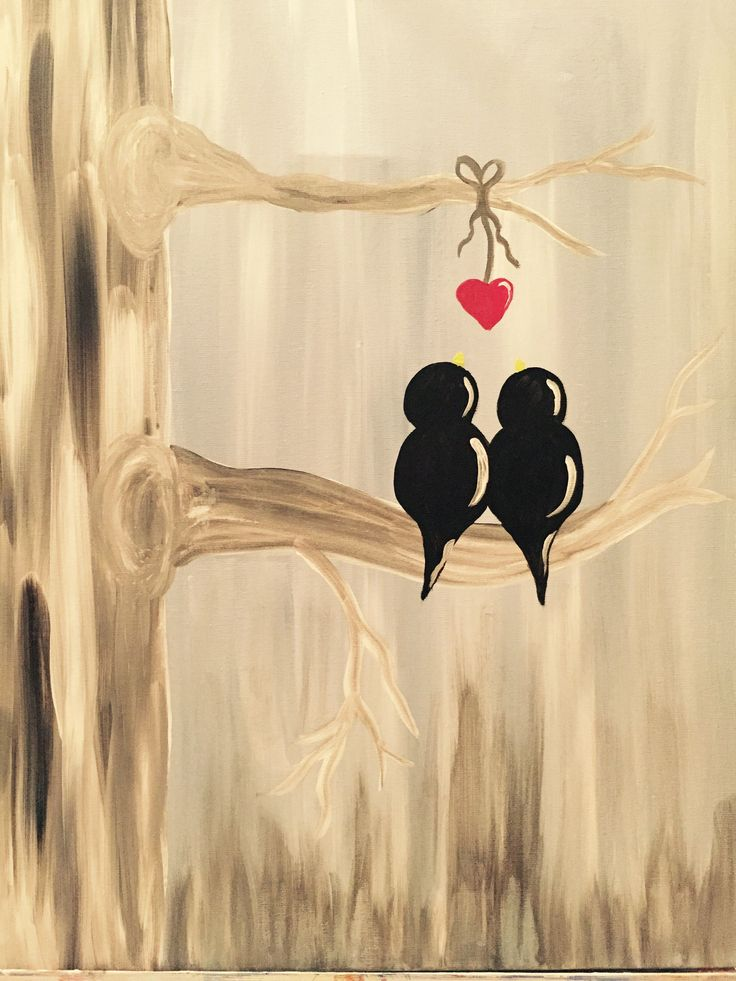 Paint Nite - Two Birds, One Heart!