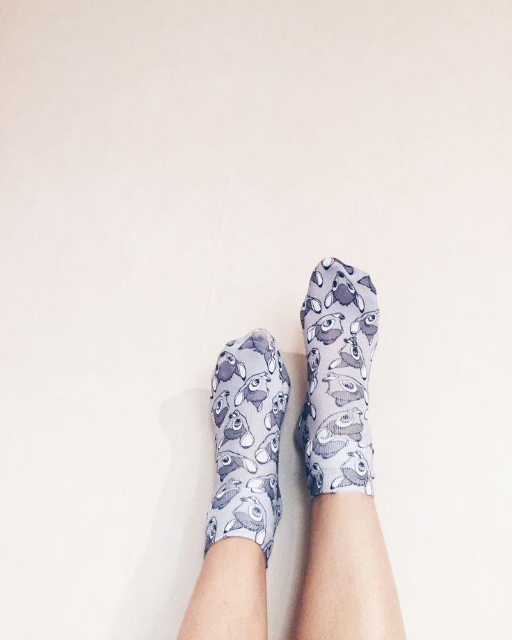 • O O T D • In love de mes chaussettes Bambi by Undiz. #Disney #Bambi #Undiz #fashion