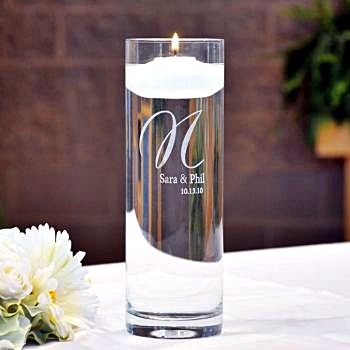 Exquisite Personalized Vase and Floating Candle