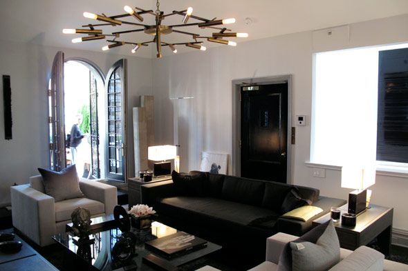 A modern twist on Old Hollywood Glam: Modern Twists, Interiors Dreams, Posts Stunning Design, Bays, Interiors Design, Jennifer Posts Stunning, Media Rooms, Jennifer'S Posts Stunning, Posts Media