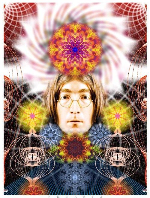 presenting a perfectly symmetric John Lennon