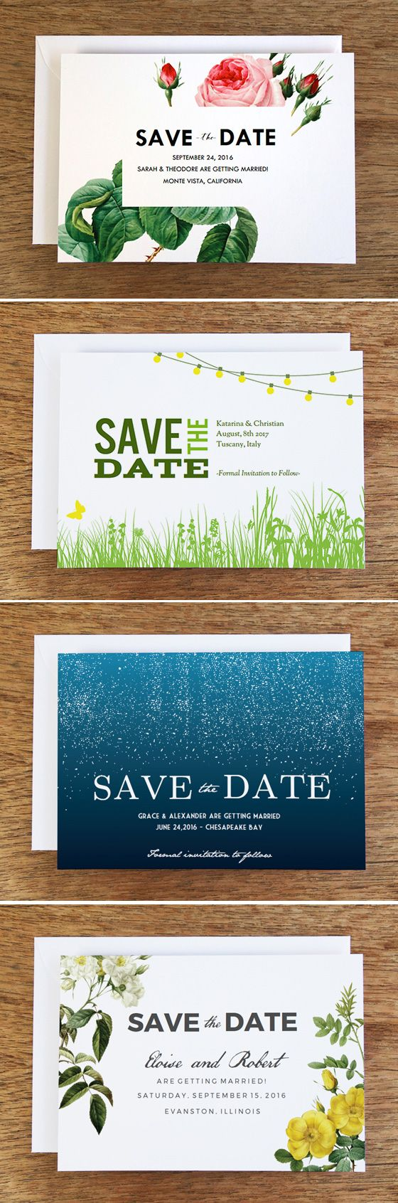 Free Printable Save the Dates from e.m.papers. Pick from over 36 beautiful on-trend designs. Just download the PDF, enter your Save the Date wording, print and cut. You can also create a screenshot and send your Save the Date as an email (link to the tutorial in the blog post). #wedding #free #savethedate #printable