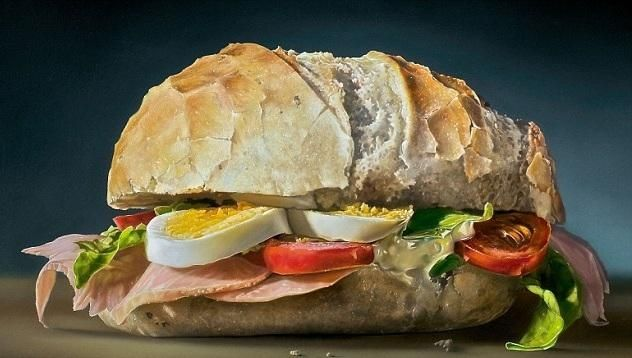 painting of breadroll