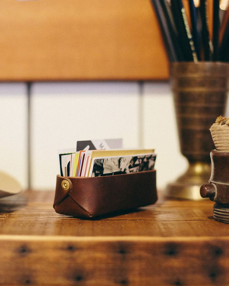 Card Tray.    This is one of my favorite leather craftsmen!