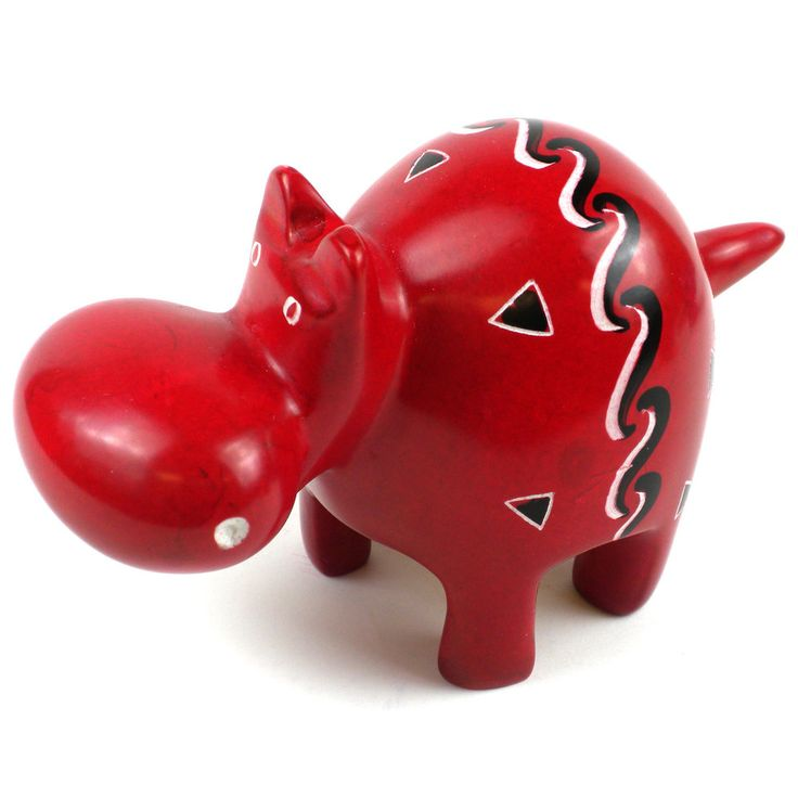 Handcrafted Red Soapstone Hippo (Kenya) | Overstock.com Shopping - Big Discounts on Global Crafts Statues  Sculptures