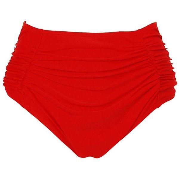 JOYMODE Women's Mid-Waisted Bikini Bottom Side Ruching Bikini Swim... (185 ZAR) ❤ liked on Polyvore featuring swimwear, bikinis, bikini bottoms, ruched bikinis, bikini swim wear, scrunch swimwear, scrunch bikini bottoms swimwear and ruched bikini bottoms swimwear