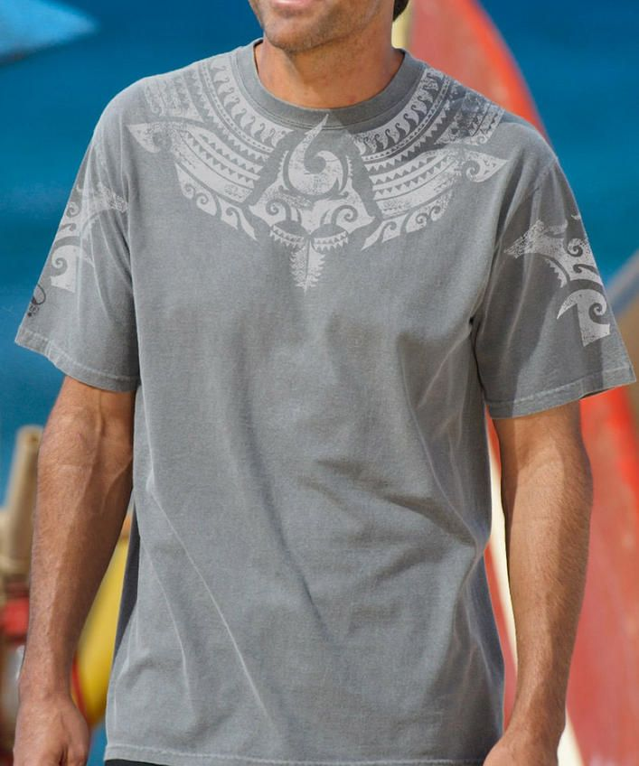 Koa ShieldCrater-Dyed Crew Neck T-Shirt