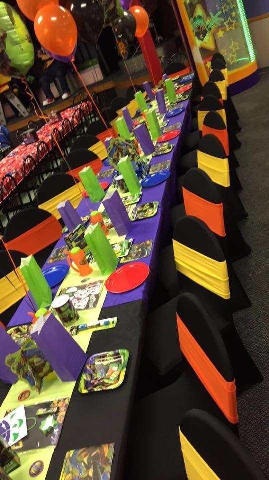Ninja turtles party at Chuck E Cheese