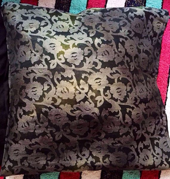 Grey black Cushion cover /16 by 16 /Home Decor/