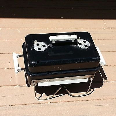 Weber Charcoal Grill Go Anywhere Transportable Bbq Outdoor Camping Tailgating Just like mine, but mine is vintage and has wood handles