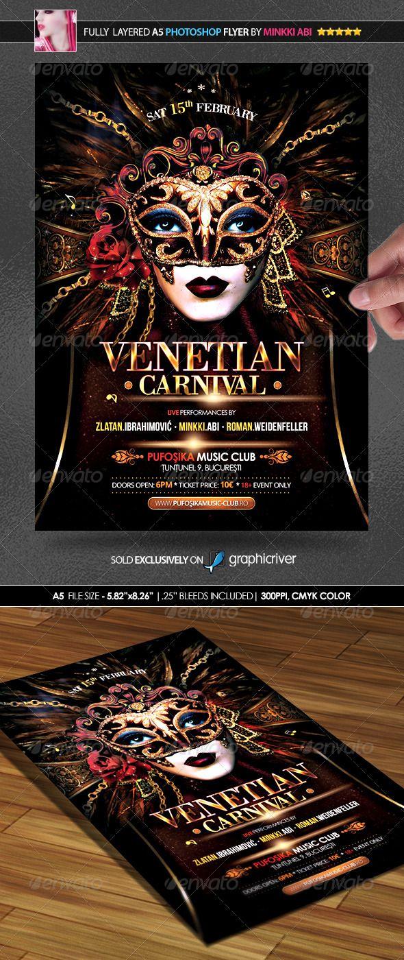 Venice Carnival Poster/Flyer