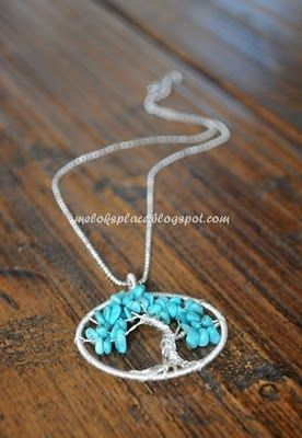 DIY tree of life necklace ~ I have this as a tattoo!  This necklace would be awesome!!