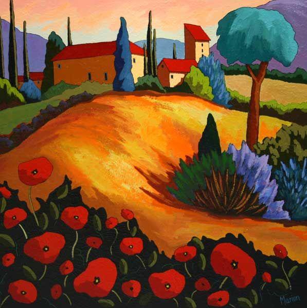 Les 25 meilleures id es concernant couleurs de peinture la toscane sur pint - Couloir peinture bicolore ...