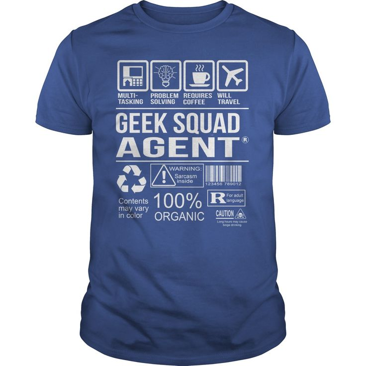(Deal Tshirt 3 hour) Awesome Tee For Geek Squad Agent [Tshirt design] Hoodies Tee Shirts
