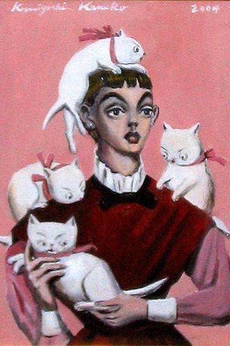 金子國義 猫が好き
