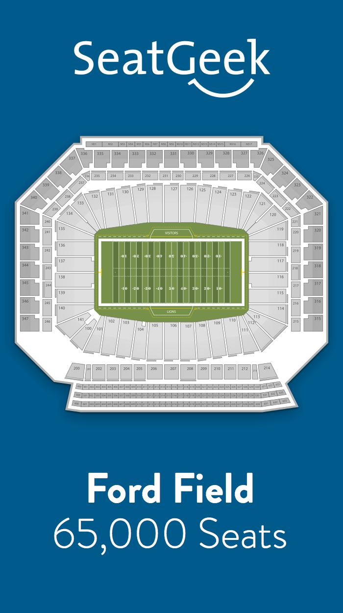 Find the best deals on Detroit Lions tickets and know exactly where you'll sit with SeatGeek.