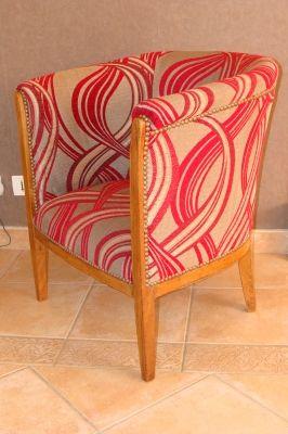 Fauteuil Tonneau - Après - Vous avez tapissé une chaise ou un fauteuil de façon originale