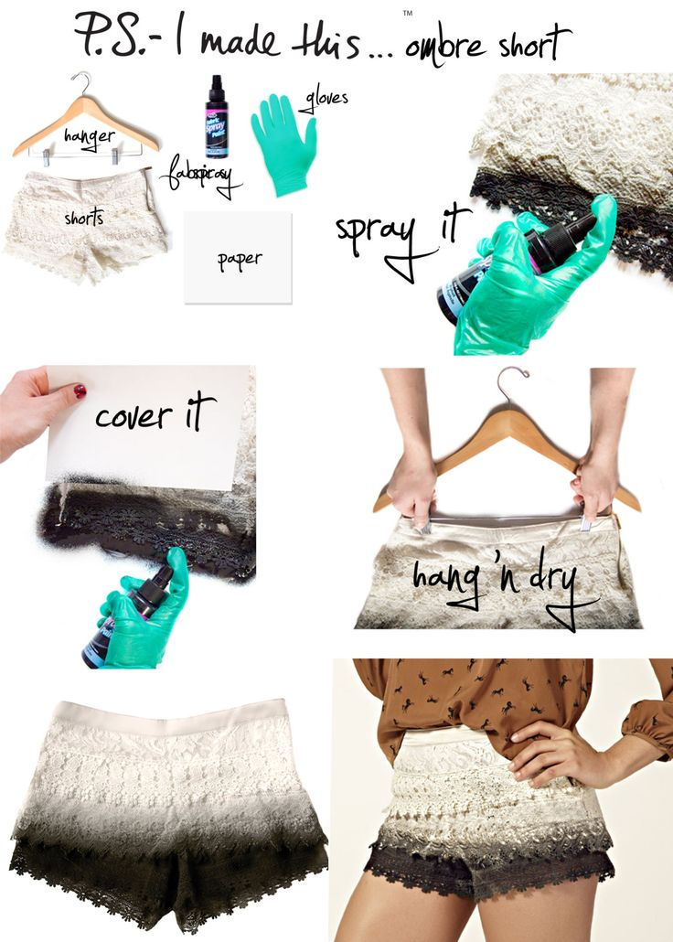P.S.- I made this... Ombre Short   #PSIMADETHIS #DIY #OMBRE