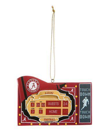 Another great find on #zulily! Alabama Crimson Tide Scoreboard Ornament #zulilyfinds