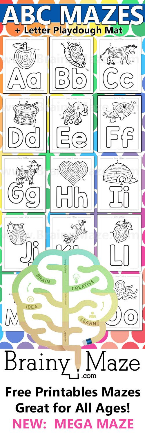 Everyone loves mazes! I know my kids would much rather do a maze then a worksheet, so that is why I designed these Alphabet Maze Worksheets.  For each letter of the alphabet there is a beginning letter picture maze for children to complete. Once they finish the maze they can use pladough to form …